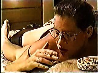 Classic Hot Cougar Smoking Bj