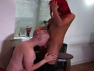 Sexy High Heeled Red Head Shemale