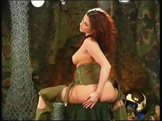Redhead Military Masturbation - Oz