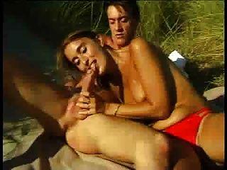 .... A Hot Porno On The Beach