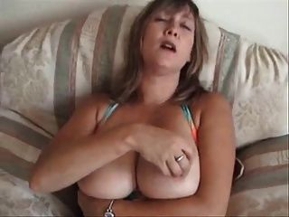 Mature Women Playing With Her Tits With Ice