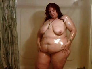 Mature Bbw In The Shower