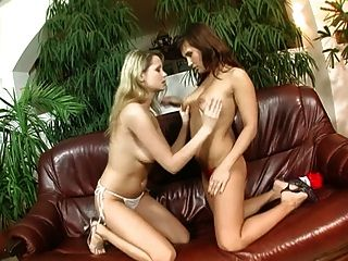 Hot Lesbians Playing With Their Toys