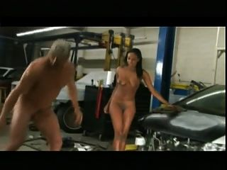 Garage Fun - Ebony Chick Fuck A White Guy