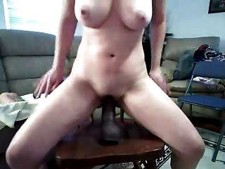 Bam Dildo Deep In Pussy