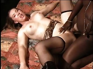 Pale Milf Loves Sucking Black Dick Even After Anal Fuck