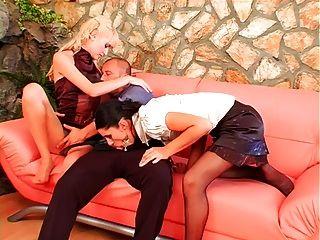 Kinky Pantyhose Threesome