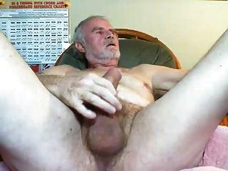 Sexy Grandpa Shooting His Loads