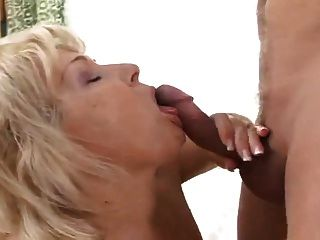 Horny Mature Seduces Young Man