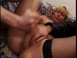 German Mature Gets Fisted And Fucked