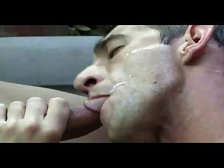 Nice Cum Pig Getting His Feed