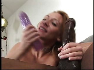 Anal Slut Dp With Black Cock In Ass And Dildo In Cunt