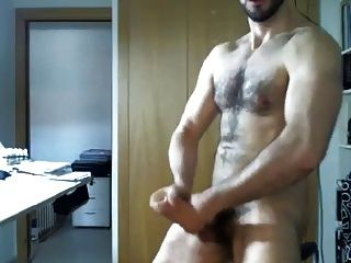 Hot Hunk Jerks Off