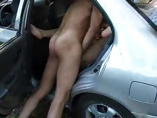 Blonde Slut Assfucked In The Back Seat