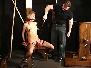 Sadistic Slave Driver Tortures Chick