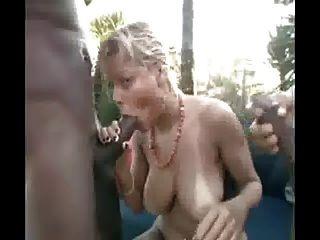 Blondie With 2 Blacks Near The Beach