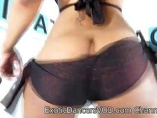 Sexy Blasian Exotic Dancer Blaze Strips Nude
