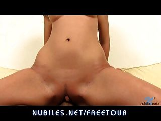 Perky Tit First-timer Gets Her Teen Pussy Fucked