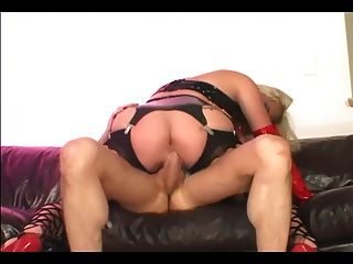 Anal In Latex Gloves And Thigh High Stockings