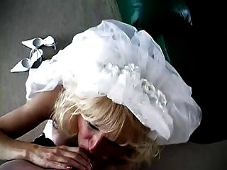 Milf Bride Blowjob And Facial.