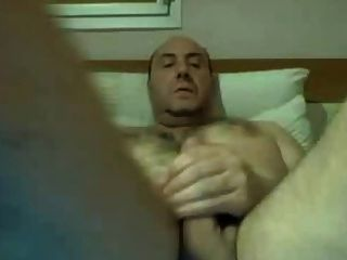Hairy Daddy Jerking