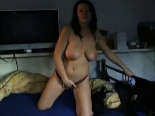 Big Breasted Girl Plays With Herself