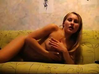 Russian Girl Masturbates For The Camera
