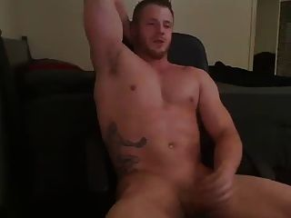 Muscled Dude Jerks Off And Cums Alot