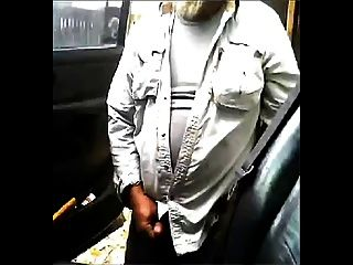 Mature Beard Dad Jerks His Cock By His Truck Outside