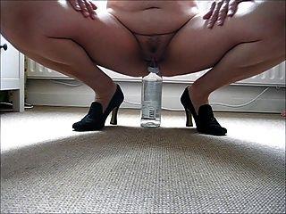Enjoying A Bottle Of Wine