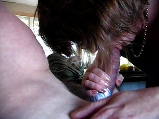 Wife Has A Feast Blowing My Big Cock