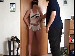 Slapping The Wife Tits And Cunt To Humiliate Her
