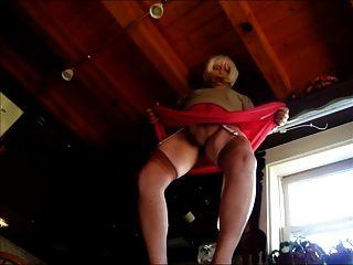 Humping Faggot In Stockings Upskirt