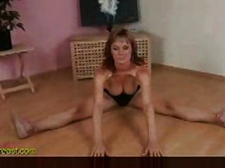 Flexible Busty Girl Gives Demo