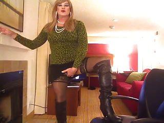 Cheryl Smoking In Leopard Top