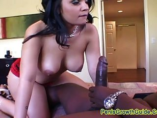 Big Tits Latina Sucked A Black Cock
