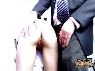 School Principal Gets His Cock Sucked Off By Carmen!