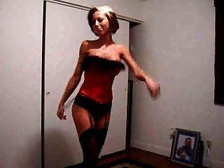 Hot Wife Dancing For Webcam