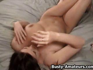 Busty Amateur Sara Masturbating Her Pussy With Dildo