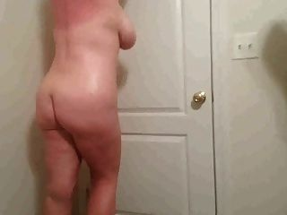 38h Tits Lateshay In Red Homemade Swimsuit