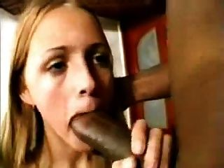 White Slut Services Black Cock