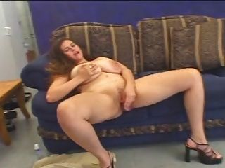 Chubby With Huge Tits Fucked On The Sofa