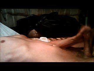 Masturbating To Numerous Dry Orgasms Followed By Cumshot