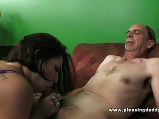 Grandpa Fucks A Skinny Slut With Tiny Tits