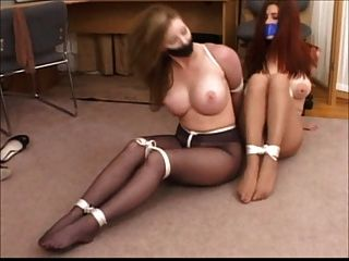 Two Girls Bondage In Pantyhose