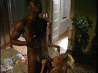 A Horny Old Blonde Slut Rides A Stiff Black Cock Of Steel