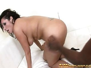 Sexy Hot Milf Rides And Fucks A Big Black Cock Interracial