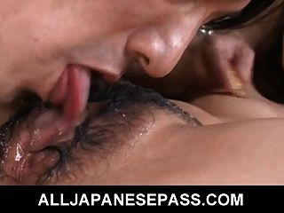 Lovely Asian Doll Gets Her Hairy Pussy And Anus Pounded