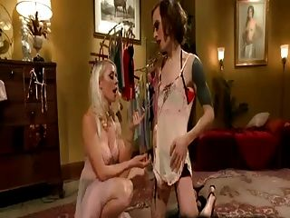 Cd Dresses Up And Gets A Huge Dildo Fucking