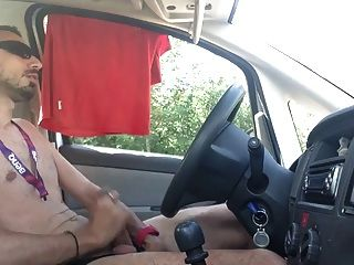 Stroking Cock In The Car...pt2